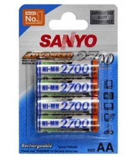 SANYO BLISTER 4 rechargeable batteries R6/2700mA
