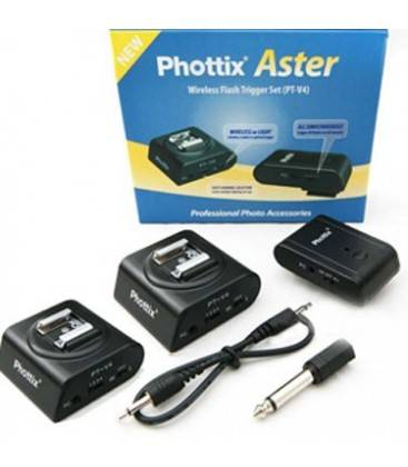 PHOTTIX ASTER DISPARADOR FLASH INALAMBRICO 2 RECEPTORES