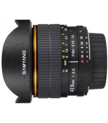 SAMYANG 8 mm f/3,5 AE FISH EYE PER NIKON CS II