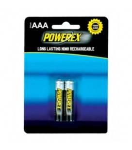 POWEREX PACK 2 AAA NiMH 1,2v 1000mAh wiederaufladbare Batterien