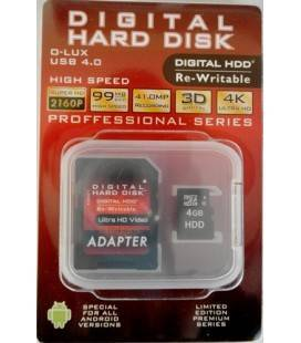 HDD TARJETA MEMORIA MICRO SD 4GB (Class10)