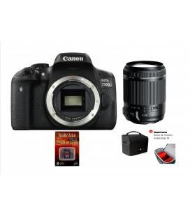 KIT CANON 750D CON TAMRON 18-200VC + SD 8GB HD VIDEO + TAMRON BAG