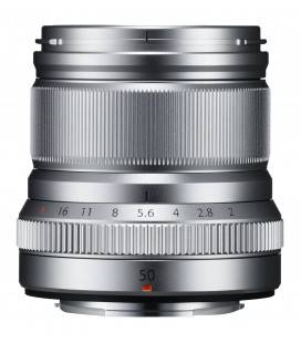 FUJIFILM OBJETIVO XF 50mm f/2 R WR SILVER./LATA