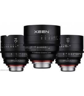 SAMYANG XEEN KIT DE CINE 24mm, 50mm, 85mm SONY E MONTURA + REGALO MALETA PELI 1500