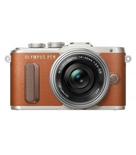OLYMPUS PEN E-PL8 + 14-42MM PANCAKE MARRON+PLATA