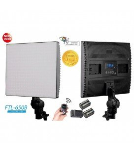 FOTIMA PANEL LED BICOLOR 650B + 2 BATTERIES + CHARGER