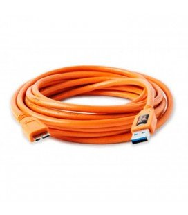 TETHER TOOLS CABLE USB 3.0 MACHO A MICRO B 4.6 M NARANJA (CU5454)