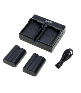 JUPIO DUAL USB CHARGER KIT + 2 BATTERIE EN-EL15 (CNI1004)