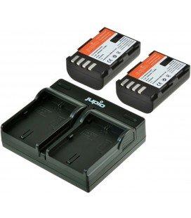 KIT CARICABATTERIE USB JUPIO + 2 BATTERIE  DMW-BLF19E