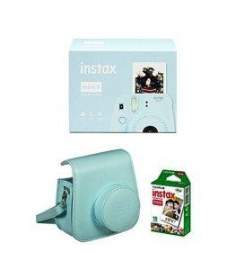 FUJIFILM  INSTAX MINI 9 + 10 FOTOS + FUNDA ORIGINAL -AZUL