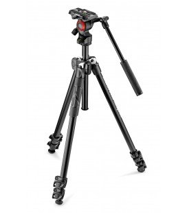 KIT TREPPIEDE MANFROTTO LIGHT 290 + VIDEO ROTULA