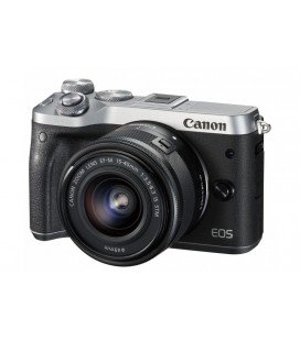 CANON EOS M6 KIT + EF-M 15-45mm F3.5-6.3 IS STM - SILVER  + FREE 1 YEAR VIP MAINTENANCE SERPLUS CANON