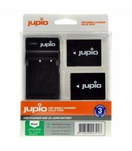 JUPIO 2 BATERIAS NP-W126S FUJIFILM + CARGADOR USB (CFU1001)