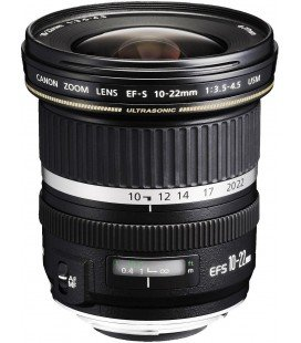 CANON EF-S 10-22mm f/3.5-4.5-4.5 USM + FREE 1 AN VIP MAINTENANCE SERPLUS CANON