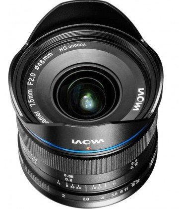 LAOWA 7.5MM F/2 MFT - VERSION STANDARD -NEGRO