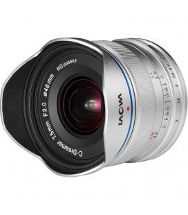 LAOWA 7.5MM F/2 MFT - VERSION ULTRA LIGERO (150gms.) PLATA