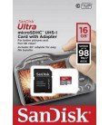 SANDISK ULTRA MICROSDHC 16GB CLASS 10  UHS-I A1