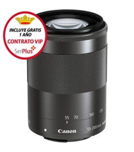 CANON EF-M 55-200MM 1:4-5.6.3 IS STM + GRATIS 1 AÑO MANTENIMIENTO VIP SERPLUS CANON