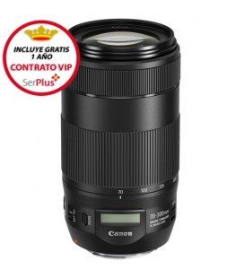 CANON EF 70-300 F4.0-5.6 IS USM II + 100€ CASHBACK + GRATIS 1 AÑO MANTENIMIENTO VIP SERPLUS CANON