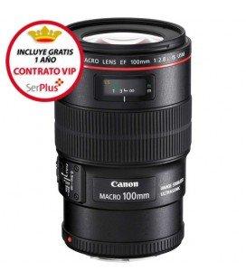 CANON EF 100mm f/2.8L MACRO IS USM + €125 REEMBOLSO DE CANON + GRATIS 1 AÑO MANTENIMIENTO VIP SERPLUS CANON