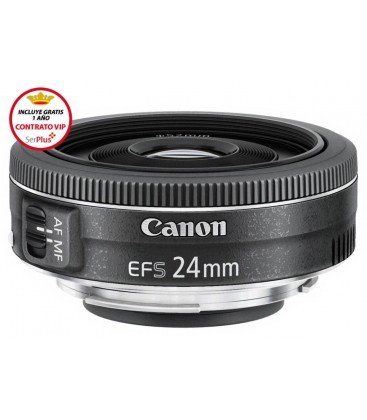 Canon EF-S 24mm f/2.8 STM + GRATIS 1 AÑO MANTENIMIENTO VIP SERPLUS CANON