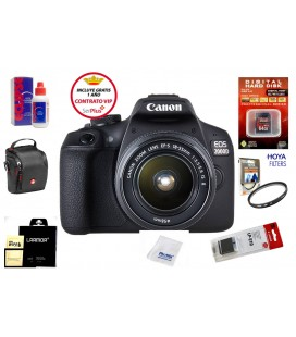 CANON EOS 2000D + 18-55 IS II PACK BASICO + GRATIS 1 YEAR MAINTENANCE VIP SERPLUS CANON