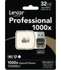 LEXAR MICRO SDHC 32 GB 150M/S + LECTOR USB 3.0