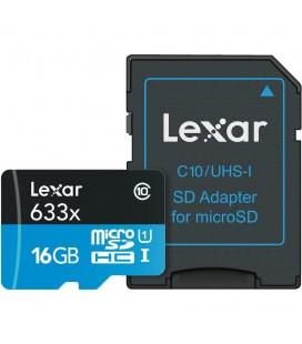 LEXAR MICRO SDXC 16 GB 95M/S 633X UHS1 + ADAPTADOR