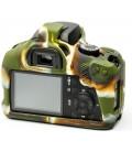EASYCOVER FUNDA PROTECTORA PARA LA CANON EOS 4000D CAMUFLAJE (INCLUYE PROTECTOR DE PANTALLA LCD)