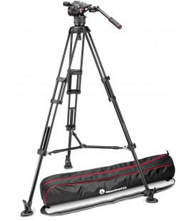 MANFROTTO TRIPODE VIDEO KIT 546B + ROTULA N8 NITROTECH