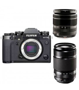 FUJIFILM XT-3 + 18-55MM + 55-200MM KIT NEGRO
