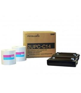 "DNP PAPEL 4""X6"" 10X15 PARA UP-CR10L / UP-CX1 / SL10 (2UPC-C14)"
